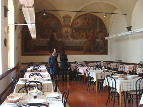 Dining room for boarders at Santa Maria degli Angioli