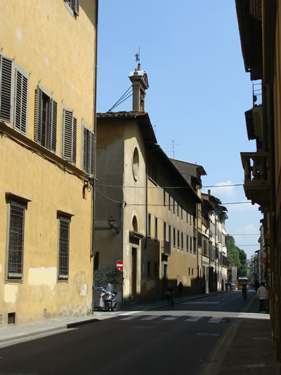 Exterior of the Capella di Santa Maria degli Angioli in Florence, Italy