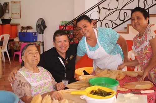 Kontis learns how to make tamales in Puerto Vallarta