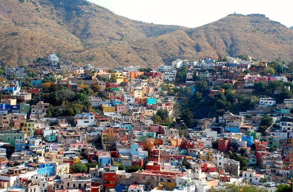 The city of Guanajuato, built on hill slopes