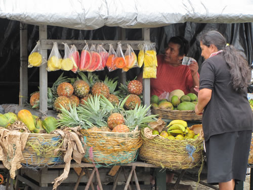 Fresh fruits at market in Guatemala