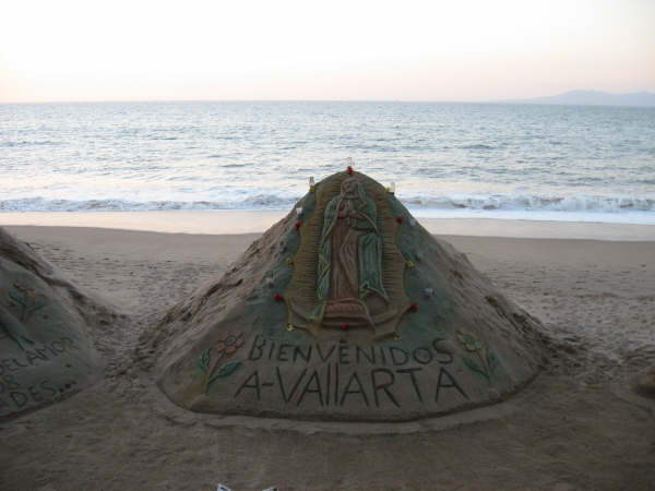Puerto Vallarta Mexico Beach Sand Castle