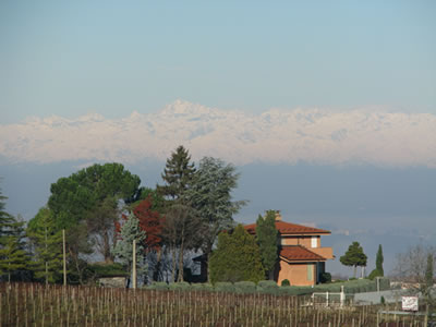View of house in Piemonte, Italy