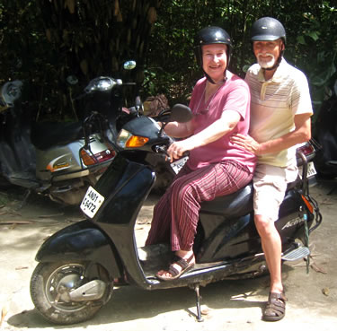 Seniors on Scooter on Havelock Island