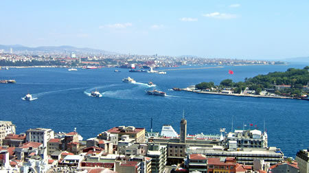 Galeta tower view in Istanbul