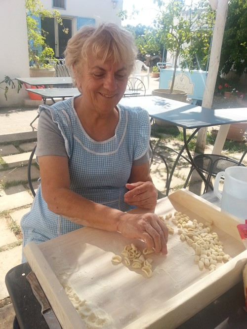 Chef Rita makes paste (cavatelli) the way her grandmother (nonna) did. Photo courtesy of Cucina in Masseria.