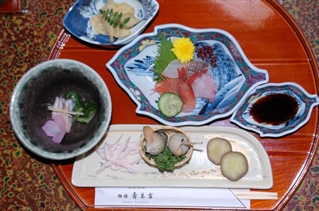 A sample food platter in Japan