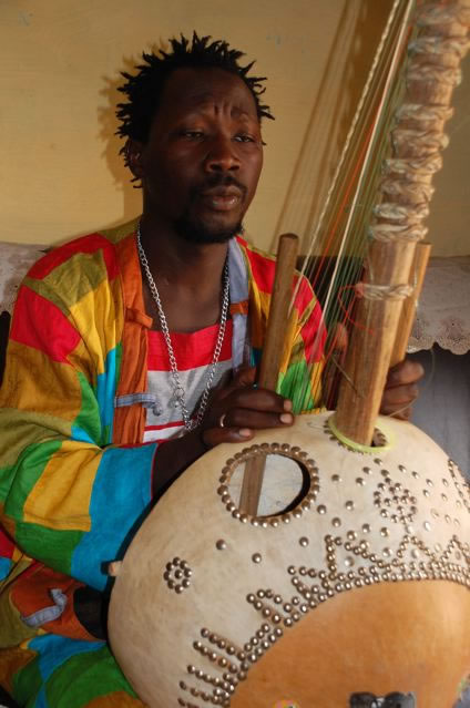 Pa Bobo Jobarteh playing the Kora in The Gambia