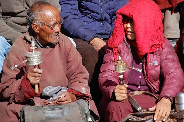 Spectators at a festival in Ladakh