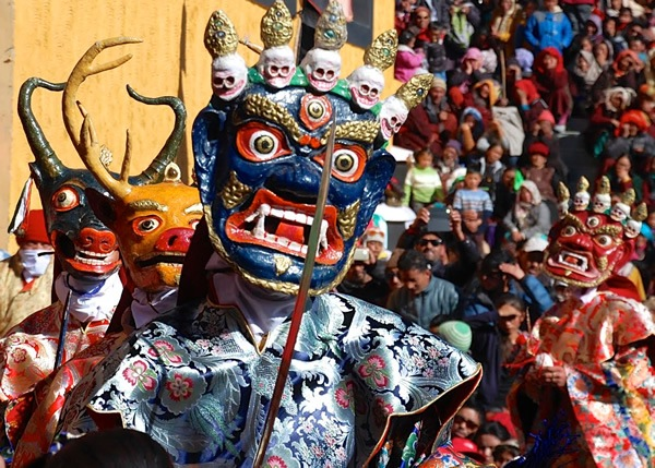 Photographing the festival in Ladakh.