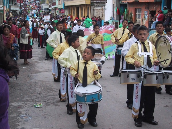 Parade in Almolongo, Guatemala