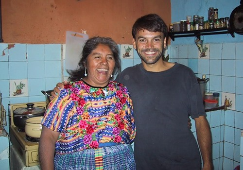 The author and Spanish teacher Alejandra in Quetzaltenango, Guatemala