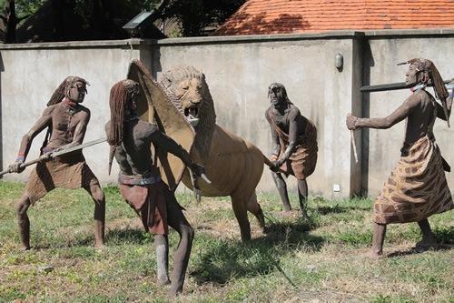 Visiting The Maasai Walking With My Host Markus