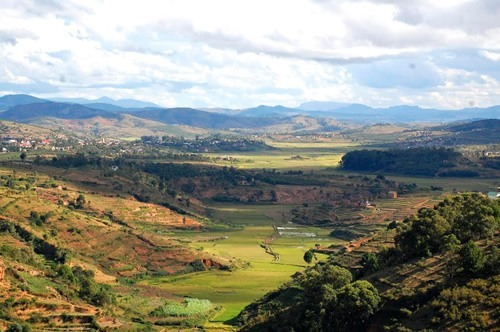 Central plateau in Madagascar where tribes live.