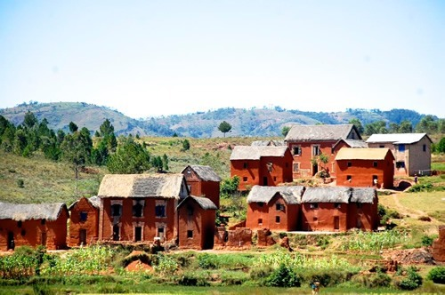Red earth dwellings in the Merina