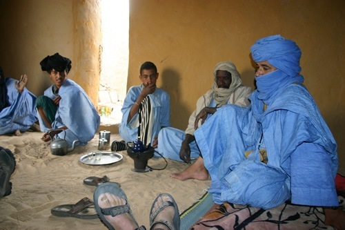 Author with the Blue Men of the Sahara