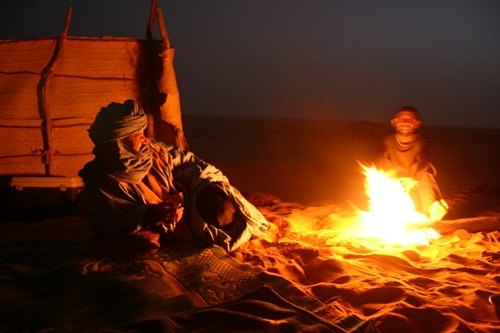 Campfire in the Sahara