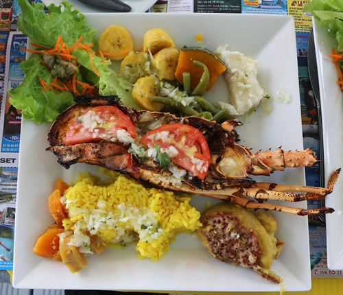 Langouste grillée at Le Littoral
