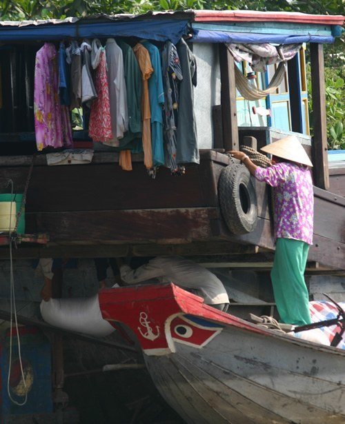 Family closet on the Mekong River