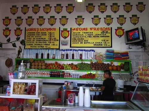 Typical juice bar in Mexico
