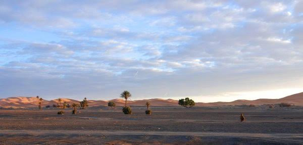 The sand dunes of Merzouga