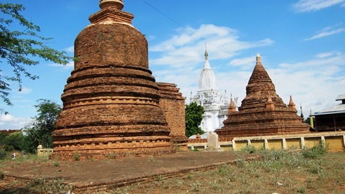 Old and new pagodas in Bagan