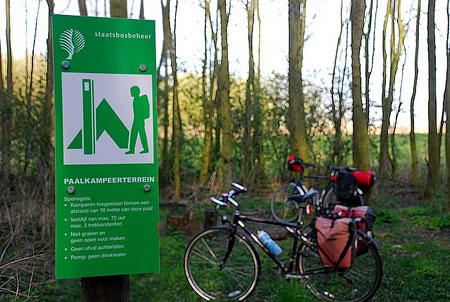 Free campsites for cyclists in the Netherlands