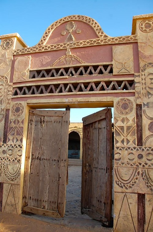Ancient Nubian door of our hotel for one night
