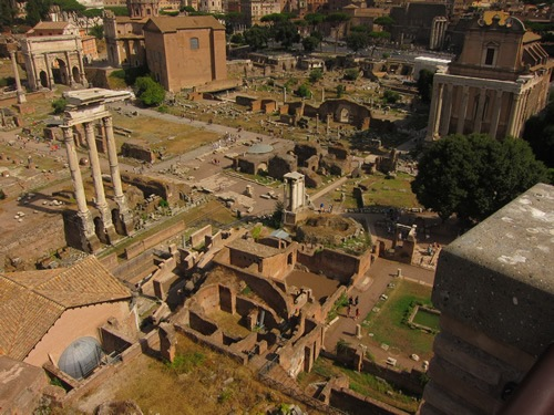 The Roman Forum during the off-season if often almost tourist-free.