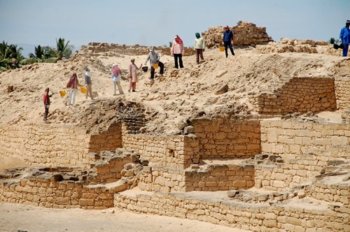 Excavation site near Salalah's frankincense museum
