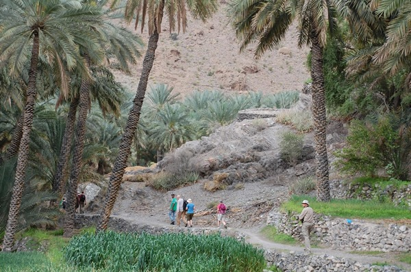 Trekking with a small group in Oman