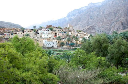 A mountain village in Oman
