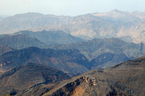 High in the Western Hajar Mountains