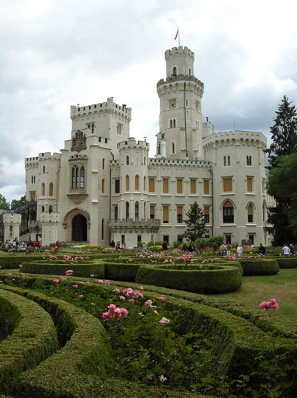 Hluboka, just one of South Bohemia's many castles.