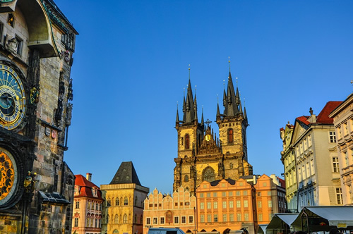 Cathedral and architecture in Prague