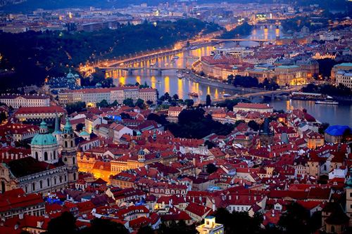 The Czech Republic Prague Pictured Here At Night Poland And Eastern Europe In General Are Still Generally Cheaper As Destinations Than Of Most Western