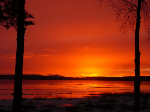 Artic sunset in Scandinavia