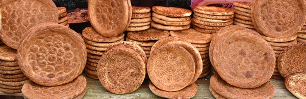 Bread stall at the Friday Muslim Market