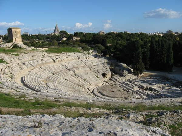 The Greek Amphitheatre in Syracusa