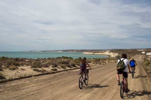Cycling as a small group in Patagonia