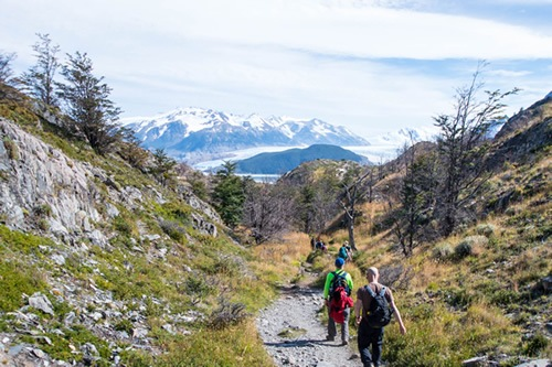 Trekking on a small group tour in Patagonia, Chile