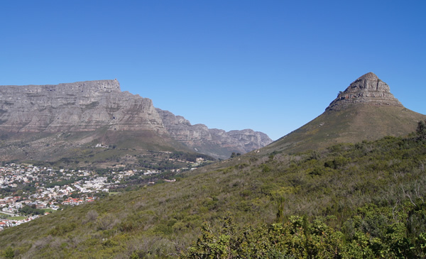 Table Mountain and the Lion's Head above Cape Town