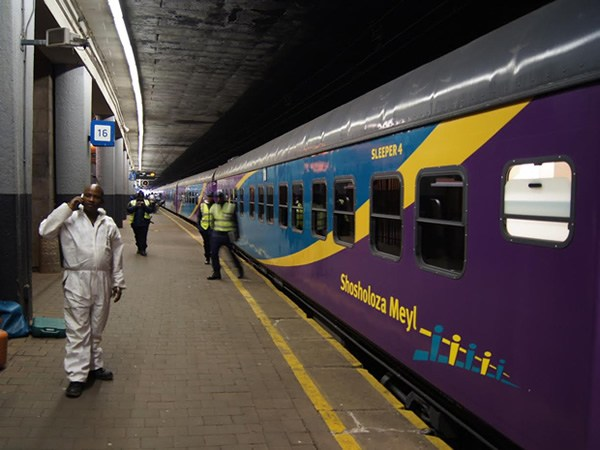 The Shosholoza Meyl train from Johannesburg to Cape Town