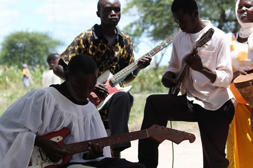 Playing music in Africa