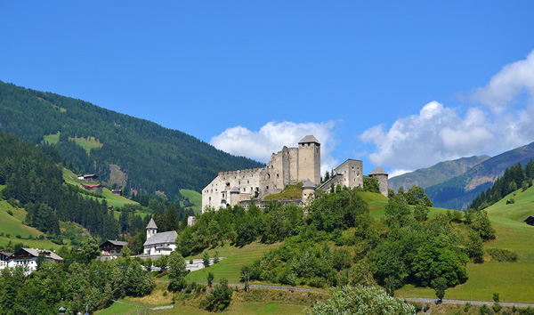 A castle in pastoral South Tyrol, Italy