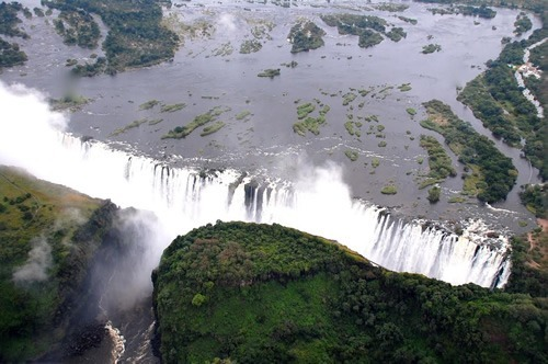 Victoria Falls on the border of Zimbabwe and Zambia