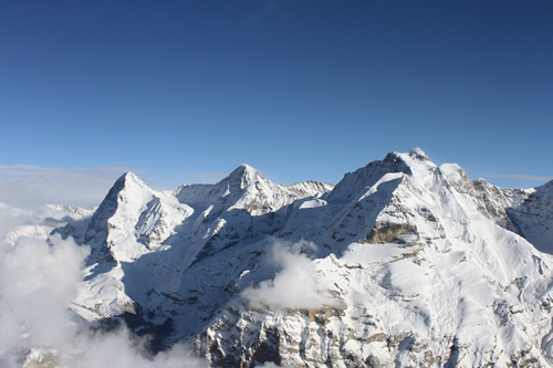 Views of mountains for Schilthorn restaurant