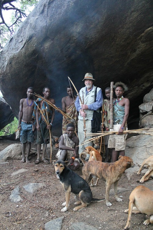 Author with the Hadzabe hunters