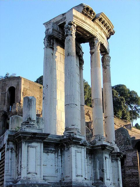 Temple of Vesta in Roman forum