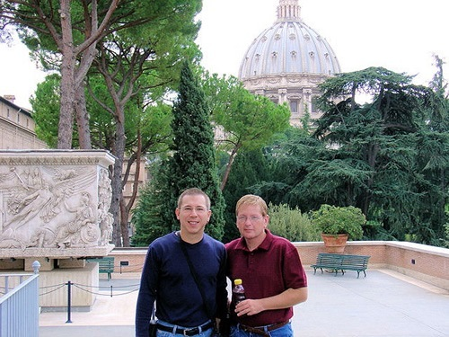 Author and partner in Rome